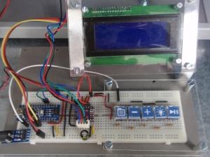 Detalle del control electrónico del clinostato